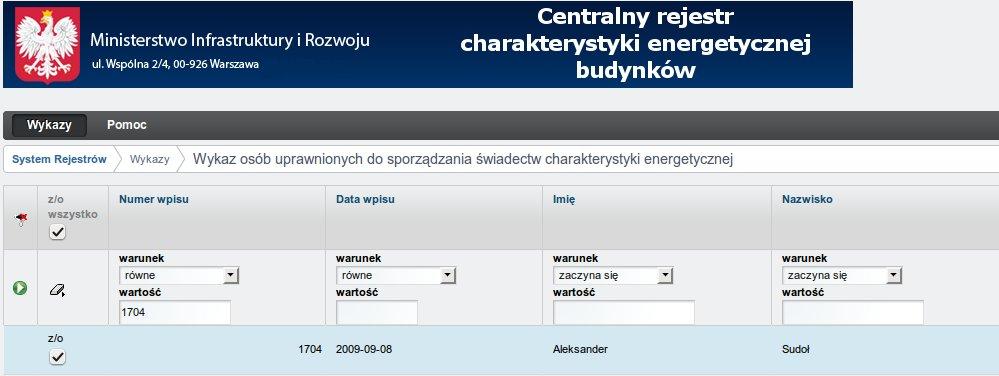 Wykaz-osób-uprawnionych-do-sporządzania-świadectw-charakterystyki-energetycznej-budynków-Aleksander-Sudoł