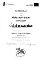 certyfikat ekobudownictwo system dociepleń domów
