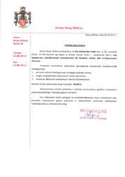 List referencyjny Gminy Nowy Wiśnicz wykonania świadectw charakterystyki energetycznej dla budynku remizy OSP w Chronowie