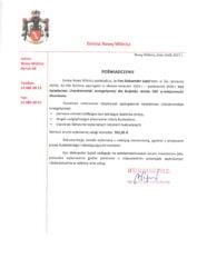List referencyjny Gminy Nowy Wiśnicz wykonania świadectw charakterystyki energetycznej dla budynku remizy OSP w Muchówce