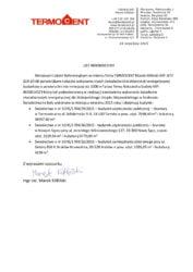 List referencyjny wykonania 3 świadectw charakterystyki energetycznej dla budynków biurowych użyteczności publicznej i zamieszkania zbiorowego należącego w zasobach Małopolskiego Urzędu Wojewódzkiego w Krakowie